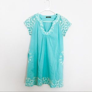 Theme Anthropologie brand embroidered tunic dress